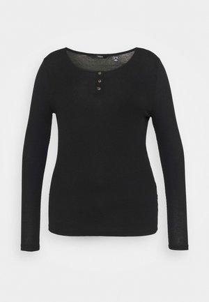 VMBERNASE BLOUSE CURVE - Long sleeved top - black