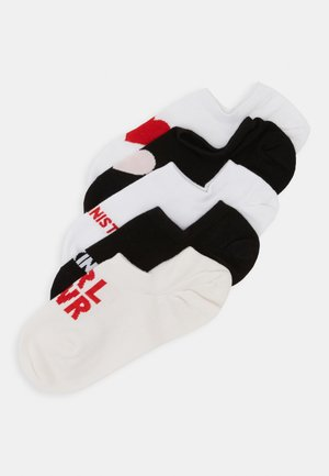 MIXED SNEAKER SOCKS 5 PACK - Calcetines tobilleros - black/white/light pink/red