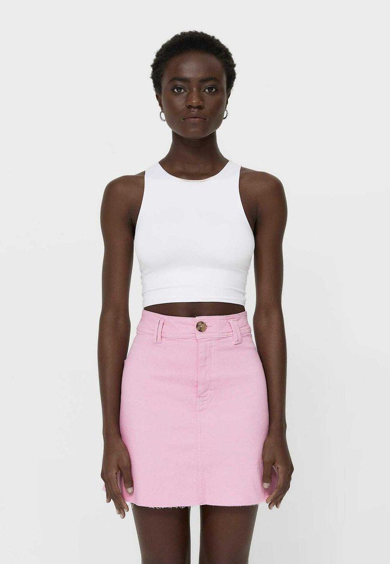 Stradivarius - Mini skirt - pink
