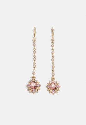 LINEAR - Oorbellen - gold-coloured/pink