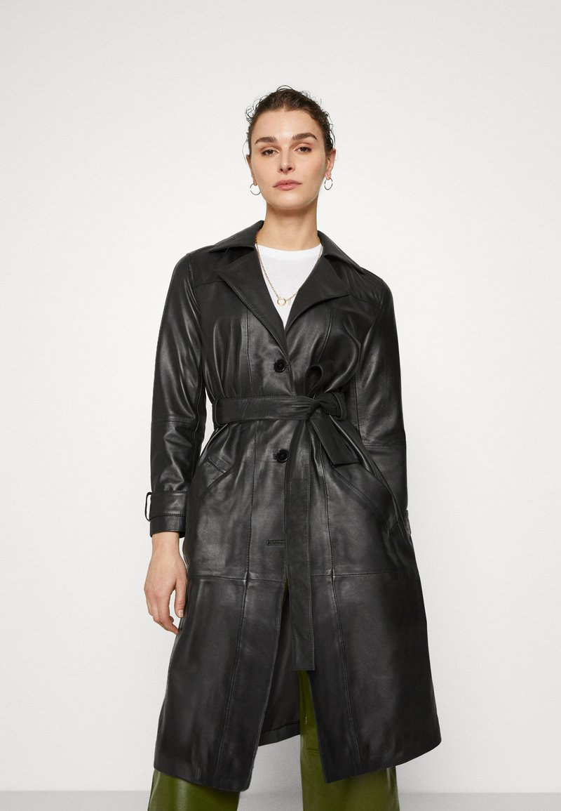 Deadwood - TERRA COAT - Trenchcoat - black