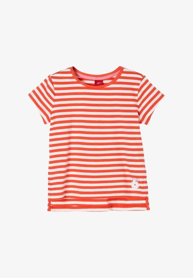 s.Oliver - Print T-shirt - orange stripes