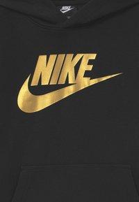 Nike Sportswear - CLUB - Hoodie - black/metallic gold - 2
