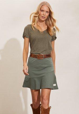 SWEEP - Mini skirt - cargo green