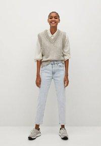 Mango - NEWMOM - Jeans a sigaretta - bleach blauw - 1
