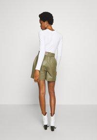 Object - OBJSTAR - Pantalón de cuero - burnt olive - 2