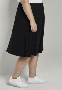 MY TRUE ME TOM TAILOR - A-line skirt - deep black - 3