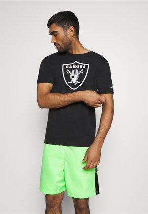 NFL OAKLAND RAIDERS LOGO ESSENTIAL  - Klubové oblečení - black