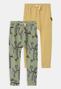 Walkiddy - BAGGY LEMUR 2 PACK UNISEX - Trainingsbroek - light green/yellow - 0