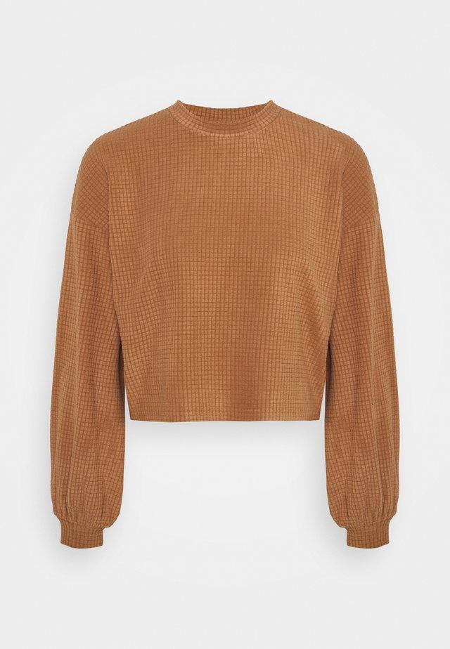 VMWAFFLE  - Mikina - tawny brown