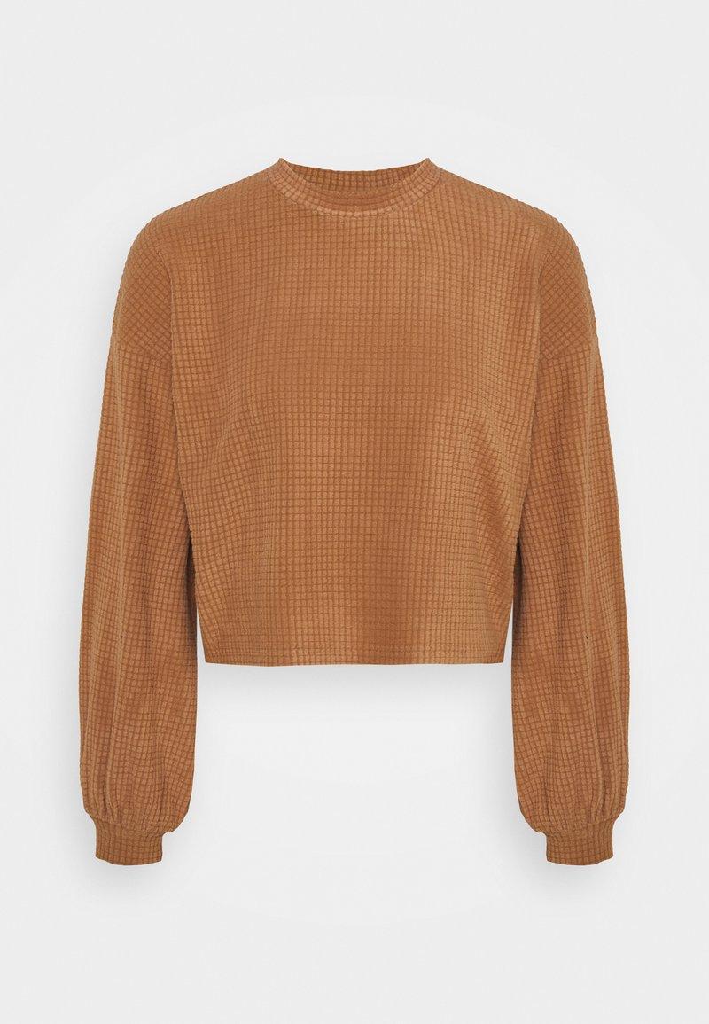 Vero Moda - VMWAFFLE  - Sweatshirt - tawny brown
