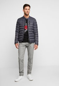 Superdry - COMMUTER QUILTED BIKER - Light jacket - iron gate - 1