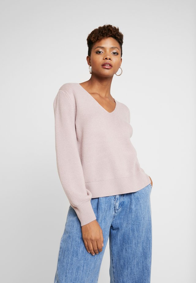 FABIAN LACE UP BACK JUMPER - Pullover - mauve day