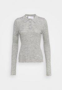 Selected Femme - SLFCOSTA - Strickpullover - light grey melange - 0