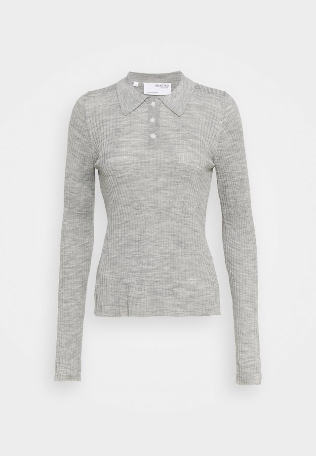 SLFCOSTA - Strickpullover - light grey melange