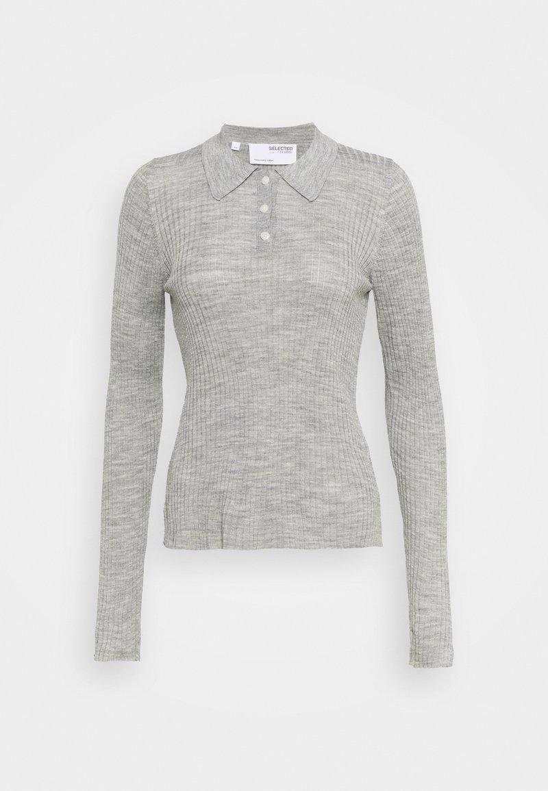 Selected Femme - SLFCOSTA - Strickpullover - light grey melange
