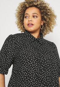Glamorous Curve - MINI DRESS WITH COLLAR - Shirt dress - black - 3
