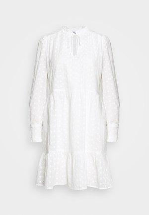 FLOWER A-SHAPE DRESS - Day dress - white