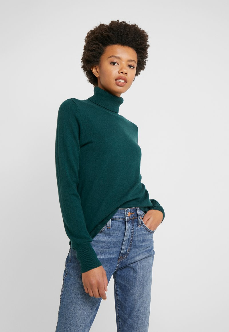 J.CREW - LAYLA TURTLENECK - Sweter - old forest
