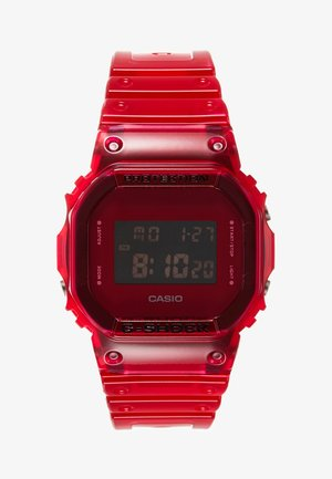 DW-5600 SKELETON - Digitalklokke - red