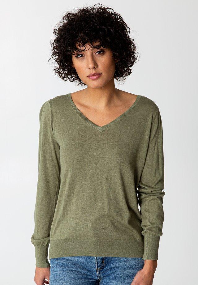 CORA - Sweter - green