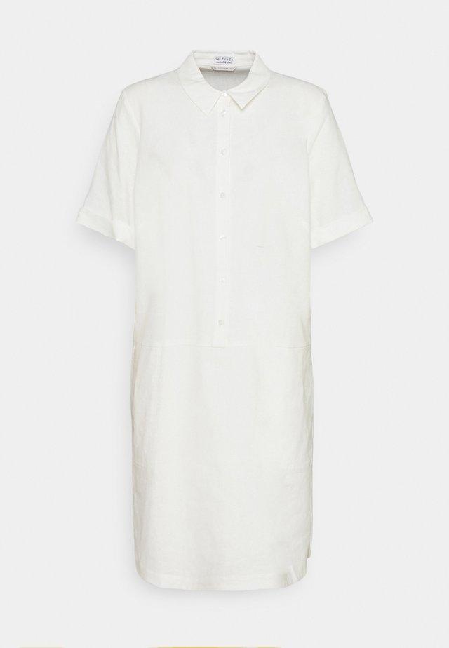 DRESS - Shirt dress - wool white