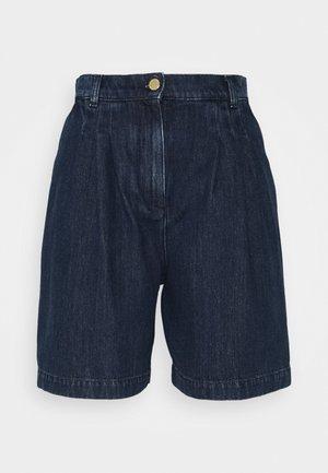 TROUSERS - Denim shorts - blue