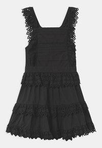 Scotch & Soda - BRODERY ANGLAISE WITH OPEN BACK DETAIL - Denní šaty - black - 0