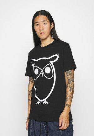 ALDER BASIC OWL TEE  - T-shirt print - black jet