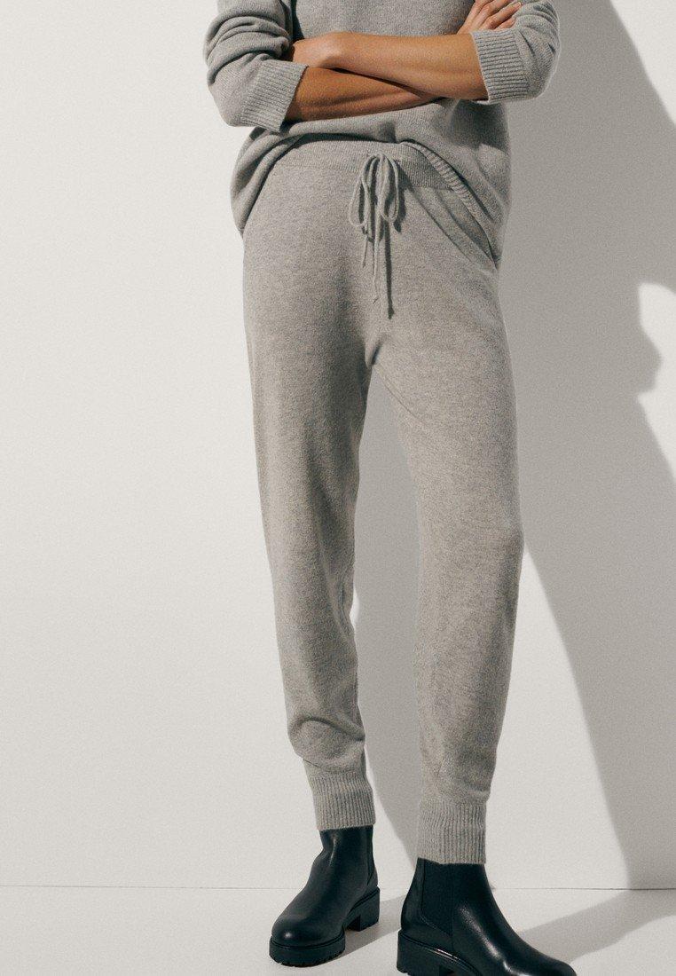 Massimo Dutti - 100 % KASCHMIR  - Tracksuit bottoms - grey