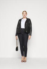 JUNAROSE - by VERO MODA - JRZEROPERNILLE  - Jeans Skinny Fit - dark blue denim - 1