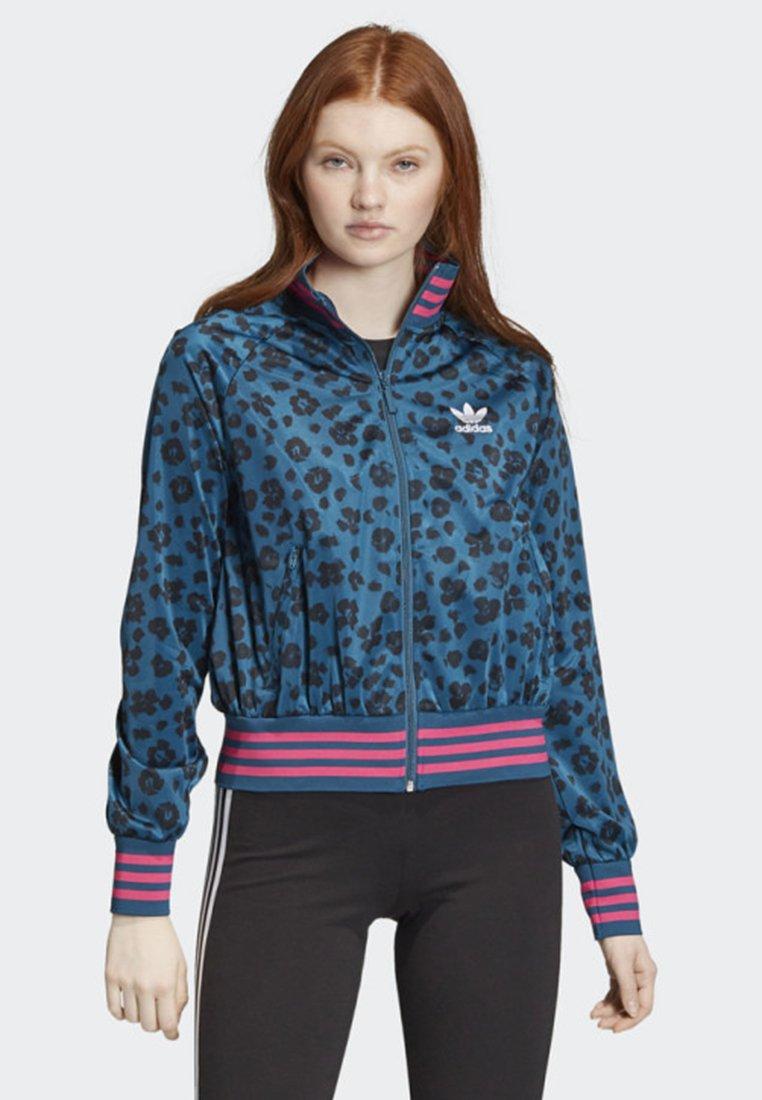 adidas Originals - ALLOVER PRINT TRACK TOP - Träningsjacka - blue