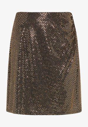 A-line skirt - schwarz nude