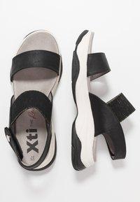 XTI - Sandály na platformě - black - 3