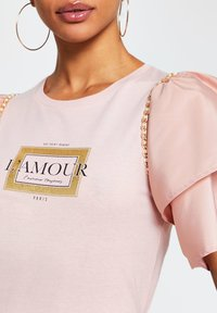 River Island - AMOUR - Print T-shirt - pink - 2
