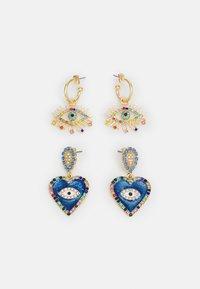 FGNILLIA EARRINGS 2 PACK - Earrings - gold-coloured/multi