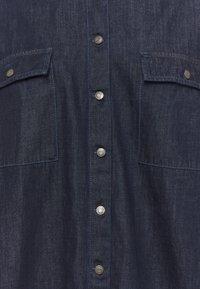 Noisy May Curve - NMFLANNY LONG SHACKET - Short coat - dark blue denim - 6