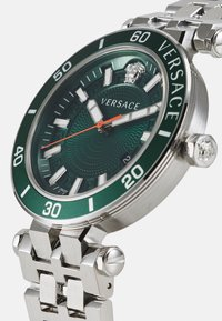Versace Watches - GRECA SPORT - Hodinky - silver-coloured/green - 3