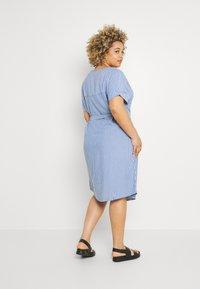 ONLY Carmakoma - CARBLUE DRESS - Day dress - colony blue/white - 2