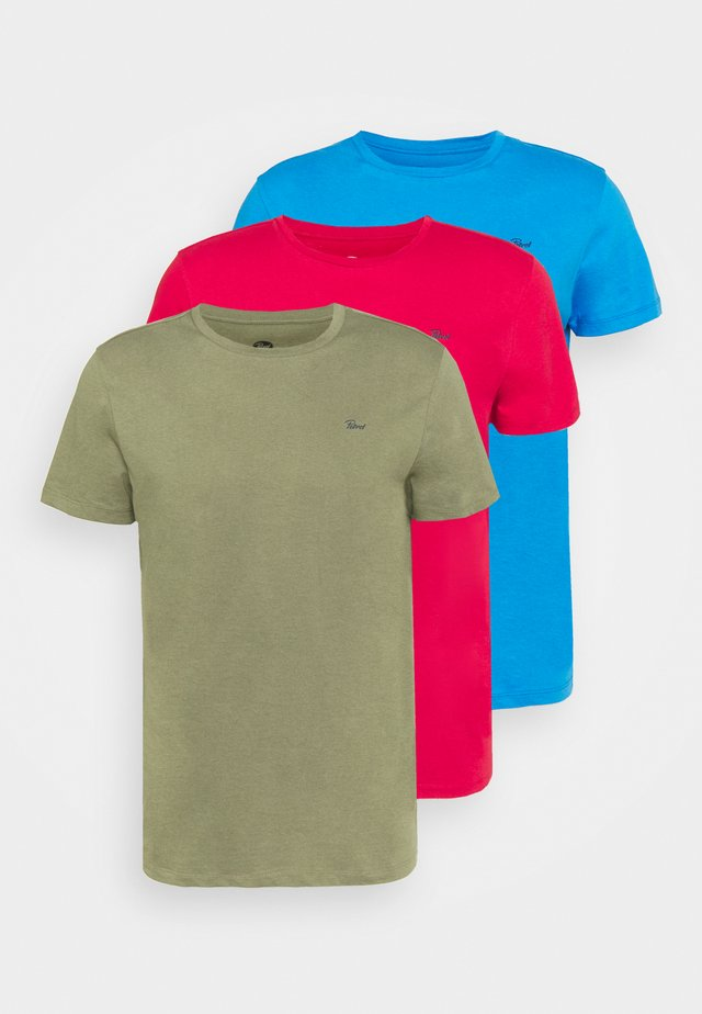 SPECIAL 3 PACK - T-shirt basic - azurblau