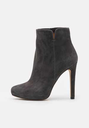 High heeled ankle boots - antracita