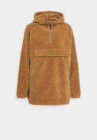 POLAR FLEECE ANORAK - Sportovní bunda - brown