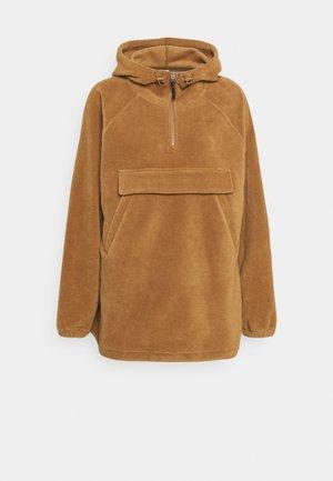 POLAR FLEECE ANORAK - Training jacket - brown