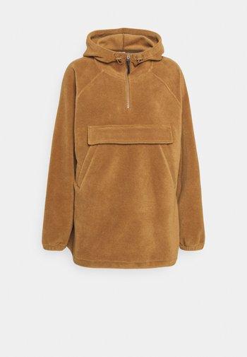 POLAR FLEECE ANORAK - Treningsjakke - brown