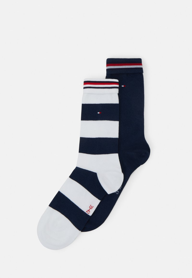 Tommy Hilfiger - 2 PACK - Chaussettes - white/black