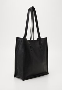 Zign - LEATHER - Torba na zakupy - black - 0
