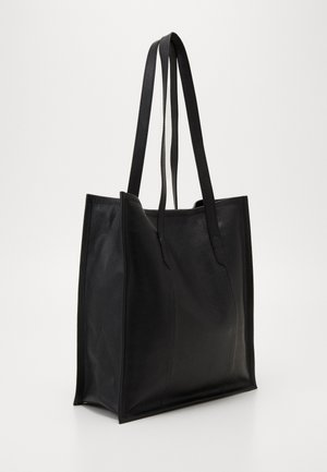 LEATHER - Shoppingveske - black