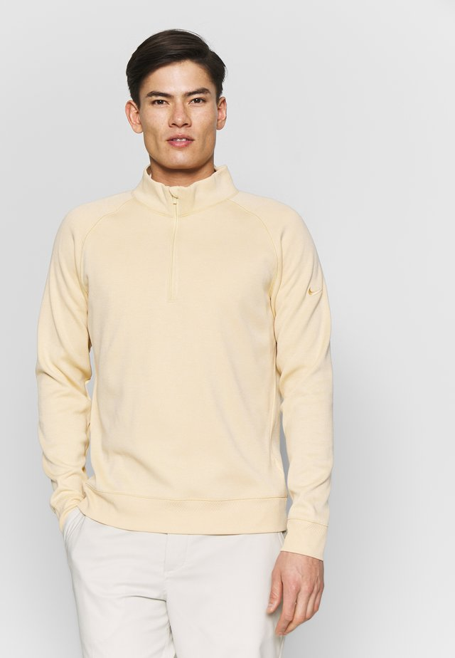 DRY PLAYER HALF ZIP - Sweatshirts - celestial gold/white
