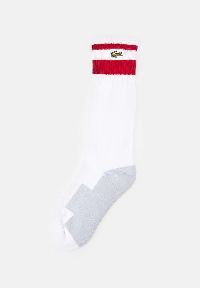 TENNIS UNISEX - Urheilusukat - white/ruby armour
