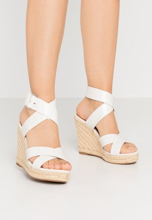 ONLAMELIA WRAP  - High heeled sandals - white